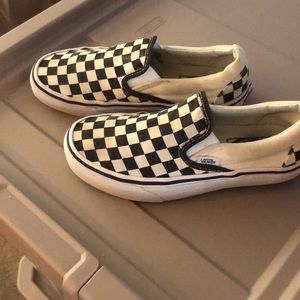 "UNISEX VANS ""OFF THE WALL"" WOMENS 6.5 MENS 5.0 B&W"